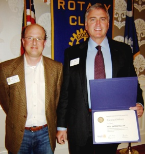 Dr. Tommy Gibbons Capital Rotary Paul Harris Fellow