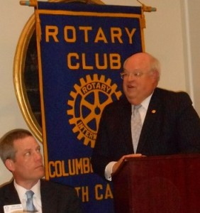Dr Hefner addresses Capital Rotary
