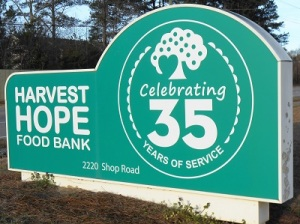 Harvest Hope Sign