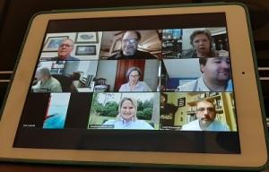 Zoom meeting screen 400