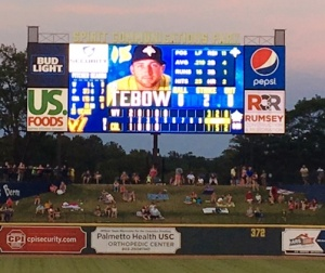 Tim Tebow on Fireflies Roster